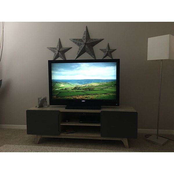 "Shop Tread 59"" Tv Stand – 59 Inches – Free Shipping Today Inside Fashionable Rowan 64 Inch Tv Stands (Image 22 of 25)"