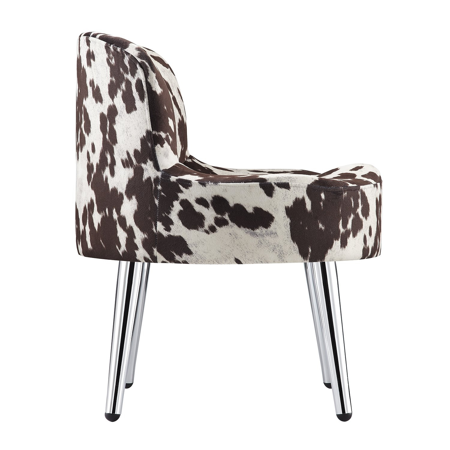Shop Tribecca Home Bridgeport Ergonomic Contour Cowhide Fabric With Circuit Swivel Accent Chairs (View 17 of 25)