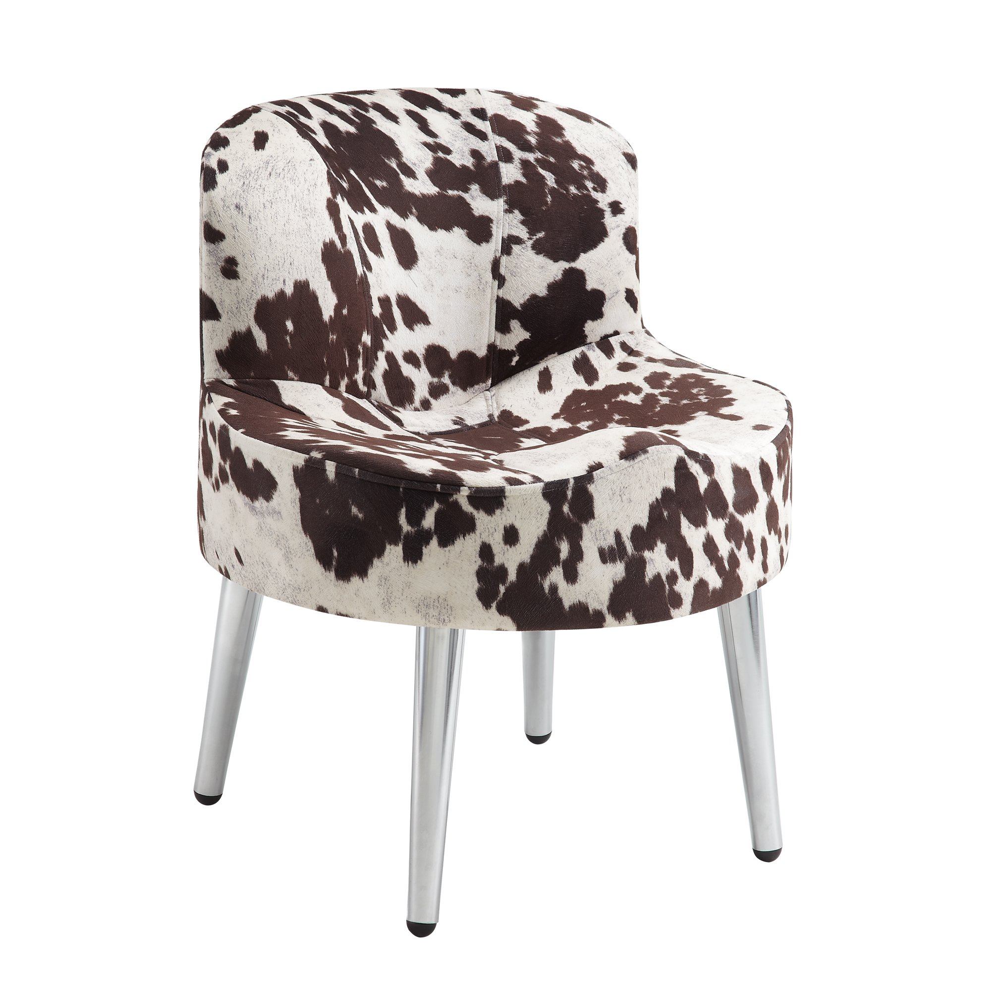 Shop Tribecca Home Bridgeport Ergonomic Contour Cowhide Fabric Within Circuit Swivel Accent Chairs (View 12 of 25)