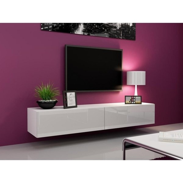 Shop Vigo High Gloss Tv Stand – Free Shipping Today – Overstock With Most Recently Released High Gloss Tv Cabinets (Image 23 of 25)