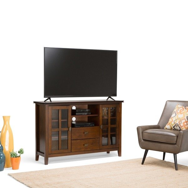 Shop Wyndenhall Stratford Tall Tv Stand For Tv's Up To 60 Inches Inside Well Liked Century Blue 60 Inch Tv Stands (Image 16 of 25)