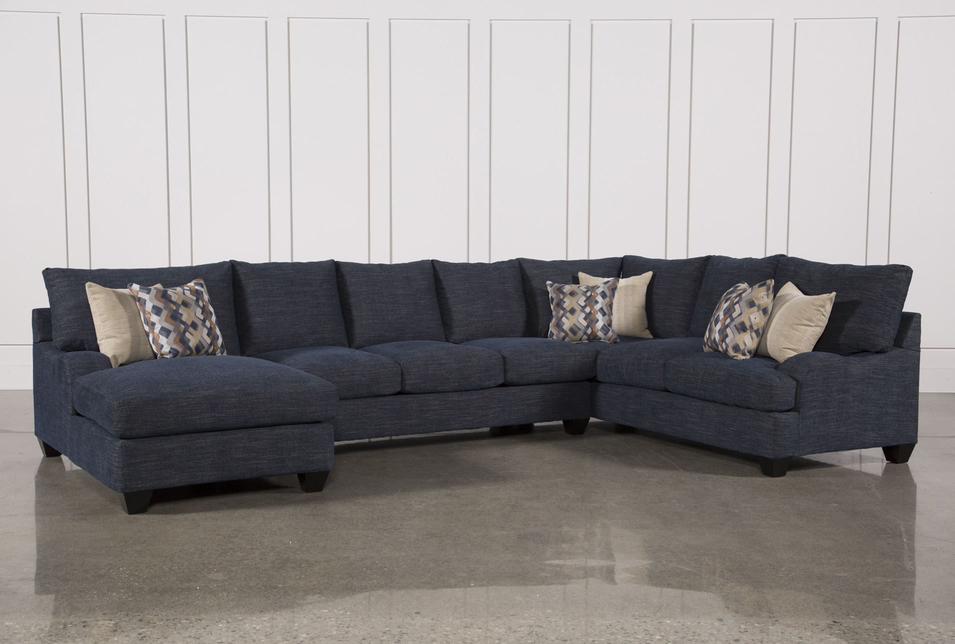 Sierra Down 3 Piece Sectional W/laf Chaise | Sofas And Sectionals For Sierra Foam Ii Oversized Sofa Chairs (View 5 of 25)