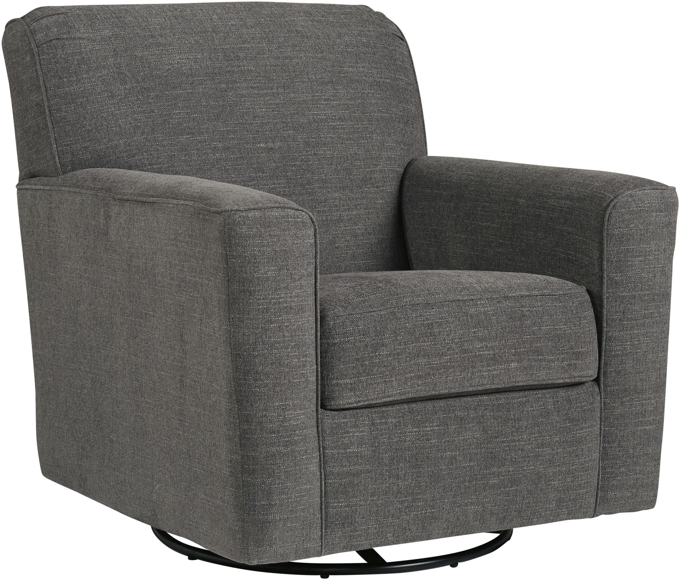 Signature Designashley Alcona Charcoal Swivel Glider Accent With Regard To Charcoal Swivel Chairs (View 7 of 25)