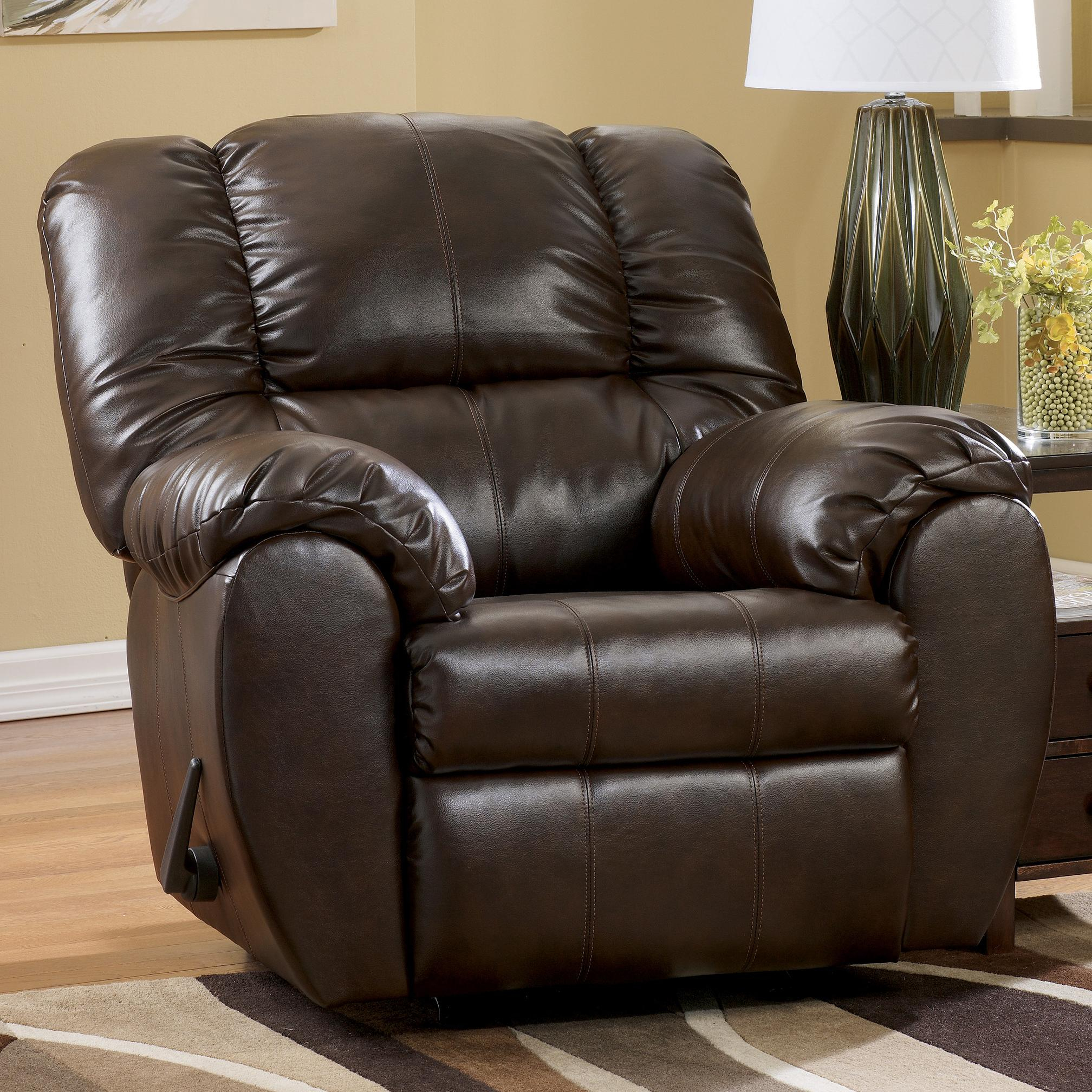 Signature Designashley Dylan Durablend – Espresso Bonded Leather Pertaining To Mansfield Cocoa Leather Sofa Chairs (Image 22 of 25)