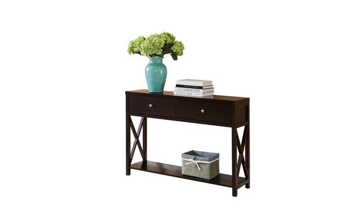 Signature Homes Ethan Dark Cherry Entryway Console Table With 2 With Recent Ethan Console Tables (View 17 of 25)