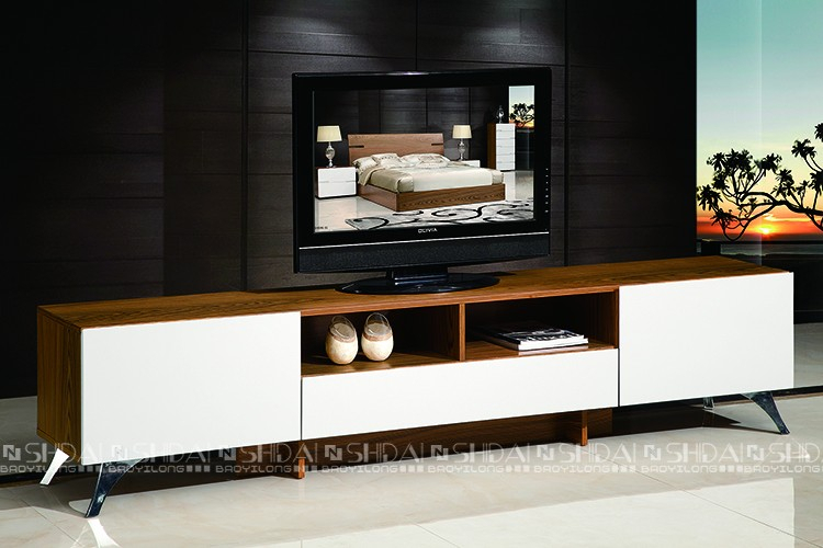 Simple Tv Stand Wood Tv Cabinet / High Gloss White Tv Stand In Well Liked Gloss White Tv Cabinets (Image 15 of 25)
