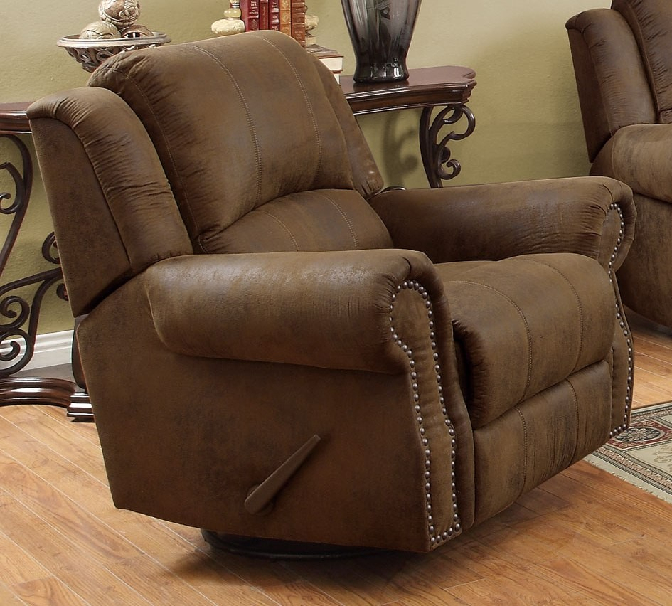 Sir Rawlinson Brown Rocker Recliner From Coaster (650153) | Coleman With Decker Ii Fabric Swivel Rocker Recliners (Image 20 of 25)