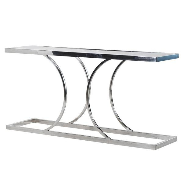 Snowmonkeymovie For Recent Elke Glass Console Tables With Brass Base (Image 21 of 25)