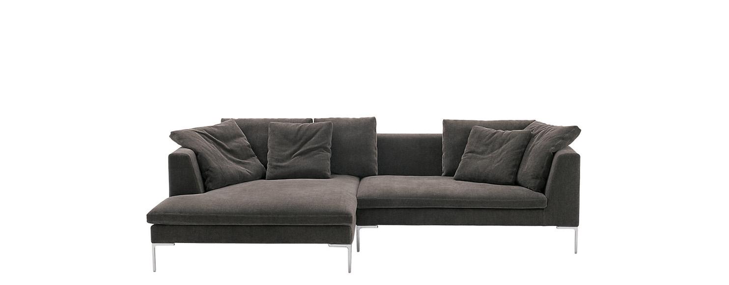 Sofa Charles Large B&b Italia – Designantonio Citterio With Regard To Sierra Foam Ii Oversized Sofa Chairs (View 14 of 25)