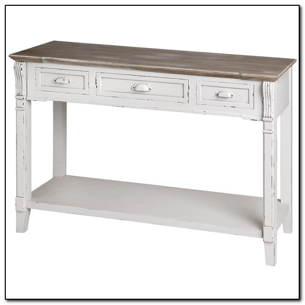 Sofa Table: Interesting Antique White Sofa Table Ideas Distressed With Well Known Antique White Distressed Console Tables (View 3 of 25)