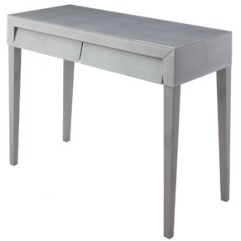 Soft Grey Shagreen Console (Image 22 of 25)