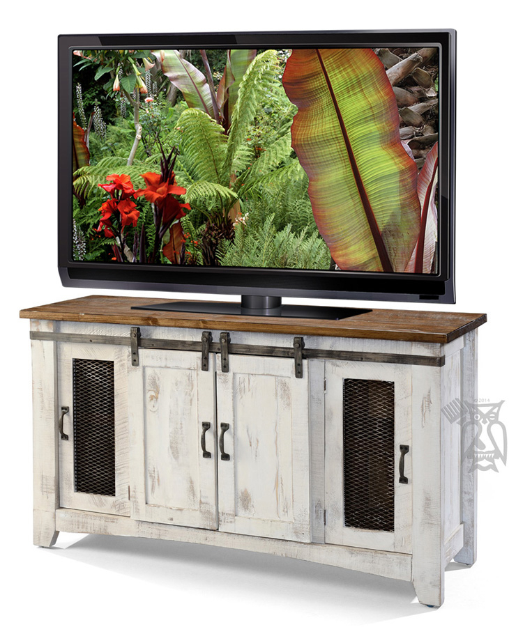"Solid Pine White Pueblo 60"" Tv Stand (Image 18 of 25)"