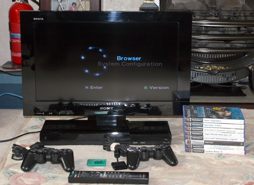 Sony Bravia 22 Inch Lcd Tv With Built In Playstation 2 And Freeview Throughout Most Current Wakefield 97 Inch Tv Stands (Image 20 of 25)