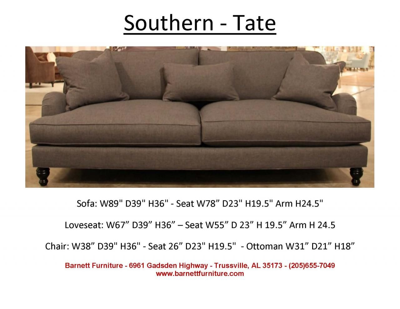 Southern Furniture Tate Sofa. You Choose The Fabric (View 7 of 25)
