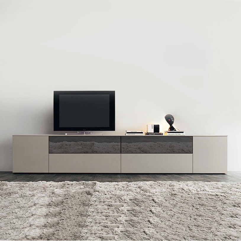 Space Extra Large Cream Mirrored Tv Unit With Newest Mirrored Furniture Tv Unit (Image 20 of 25)