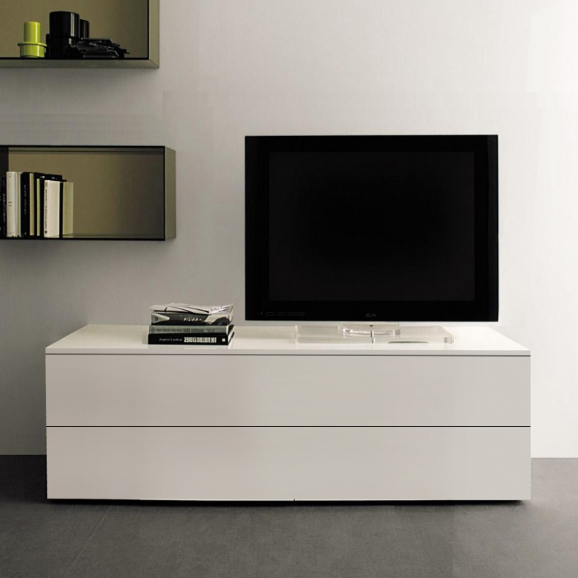 Space Small Tv Unit, White Gloss Within Best And Newest Gloss White Tv Cabinets (View 5 of 25)