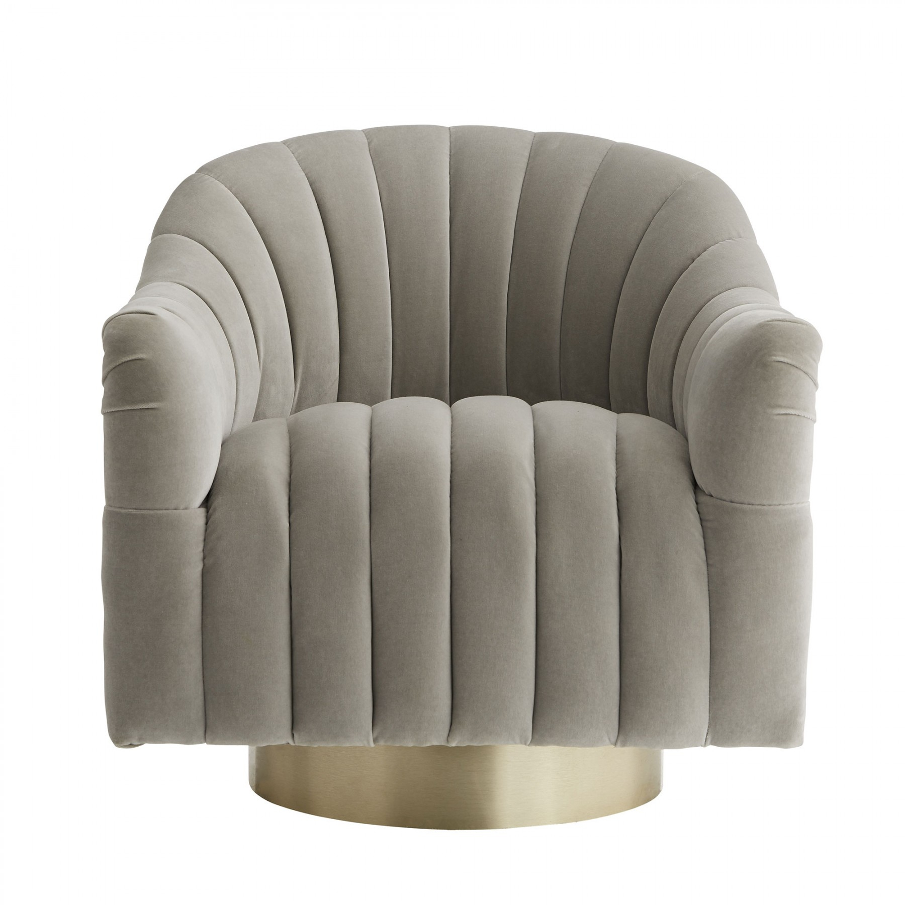 Springsteen Chair Flint Velvet Champagne Swivel With Regard To Harbor Grey Swivel Accent Chairs (View 3 of 25)