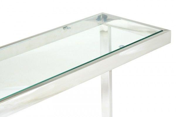 Stainless Steel Console Table Lexington Polished Stainless Steel Regarding Recent Parsons Clear Glass Top & Stainless Steel Base 48X16 Console Tables (Image 21 of 25)