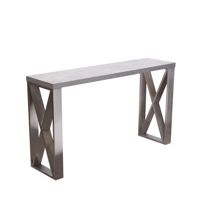 Stainless Steel Console Table Lexington Polished Stainless Steel With Regard To Widely Used Parsons Clear Glass Top & Stainless Steel Base 48X16 Console Tables (Image 22 of 25)
