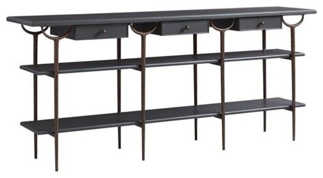 Stanley Villa Couture Asti Console Table, Bluestone – Console Tables Throughout Most Recent Bluestone Console Tables (Image 21 of 25)