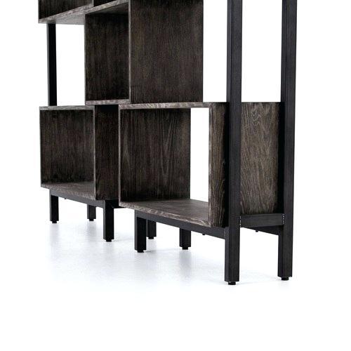 Steel Bookshelf Martin Bookshelf Black Burnt Oak Speckled Steel Throughout Famous Burnt Oak Metal Sideboards (Image 18 of 25)
