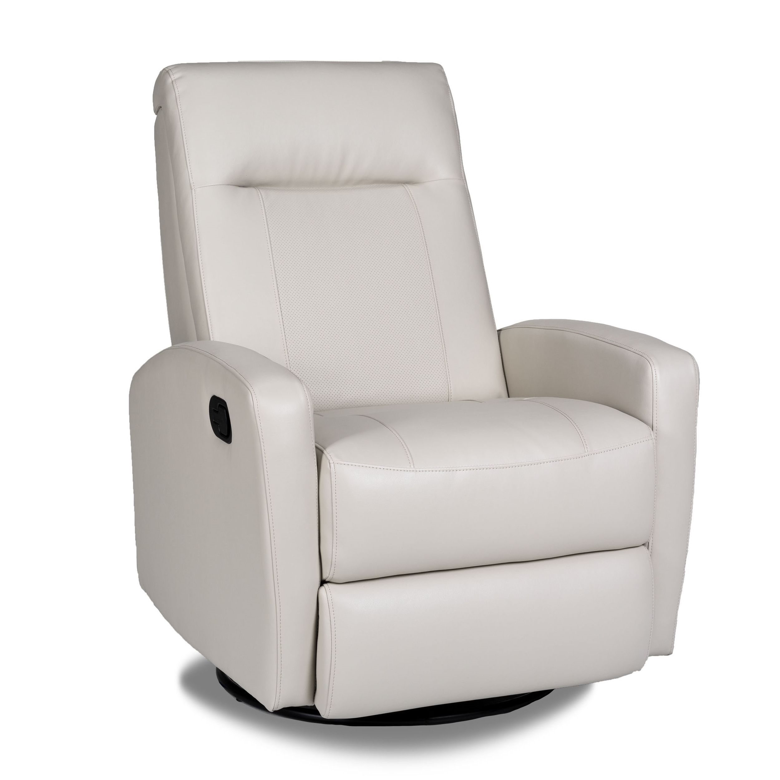 Stefan Bonded Leather Swivel Glider Recliner – Overstock™ Shopping Throughout Dale Iii Polyurethane Swivel Glider Recliners (Image 25 of 25)