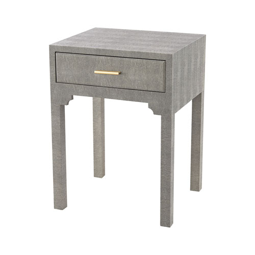 Sterling Industries Sands Point Grey Faux Shagreen Accent Table 3169 With Well Liked Faux Shagreen Console Tables (View 16 of 25)