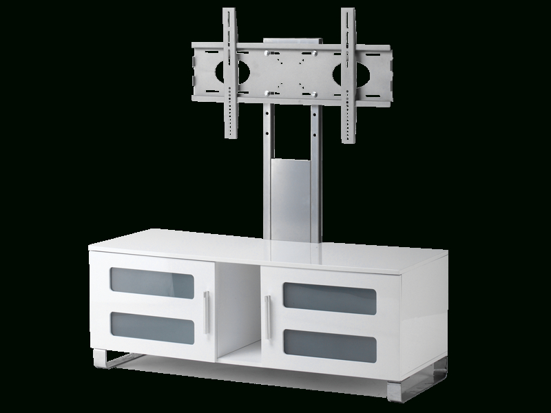 """Stil Stand High Gloss White Cantilever Tv Stand Up To 50"""" Stuk2061 W For Most Up To Date White Cantilever Tv Stand (Image 21 of 25)"""