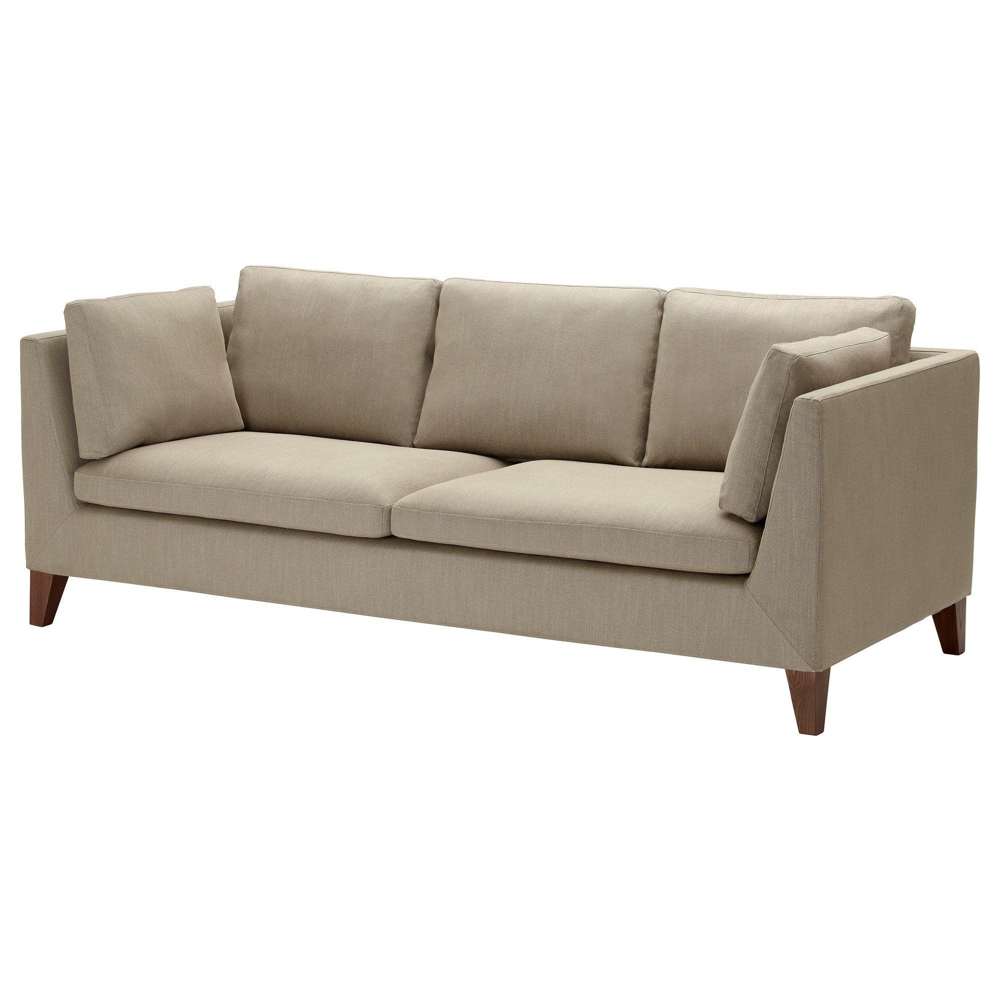 Stockholm 3'lü Kanepe Gammelbo Açık Kahverengi | Ikea Oturma Odaları In Ikea Sofa Chairs (Image 23 of 25)
