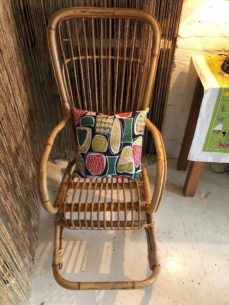 Stunning Vintage Franco Albini Style Cane/ Wicker Rocking Chair, Mcm Intended For Franco Iii Fabric Swivel Rocker Recliners (View 13 of 25)