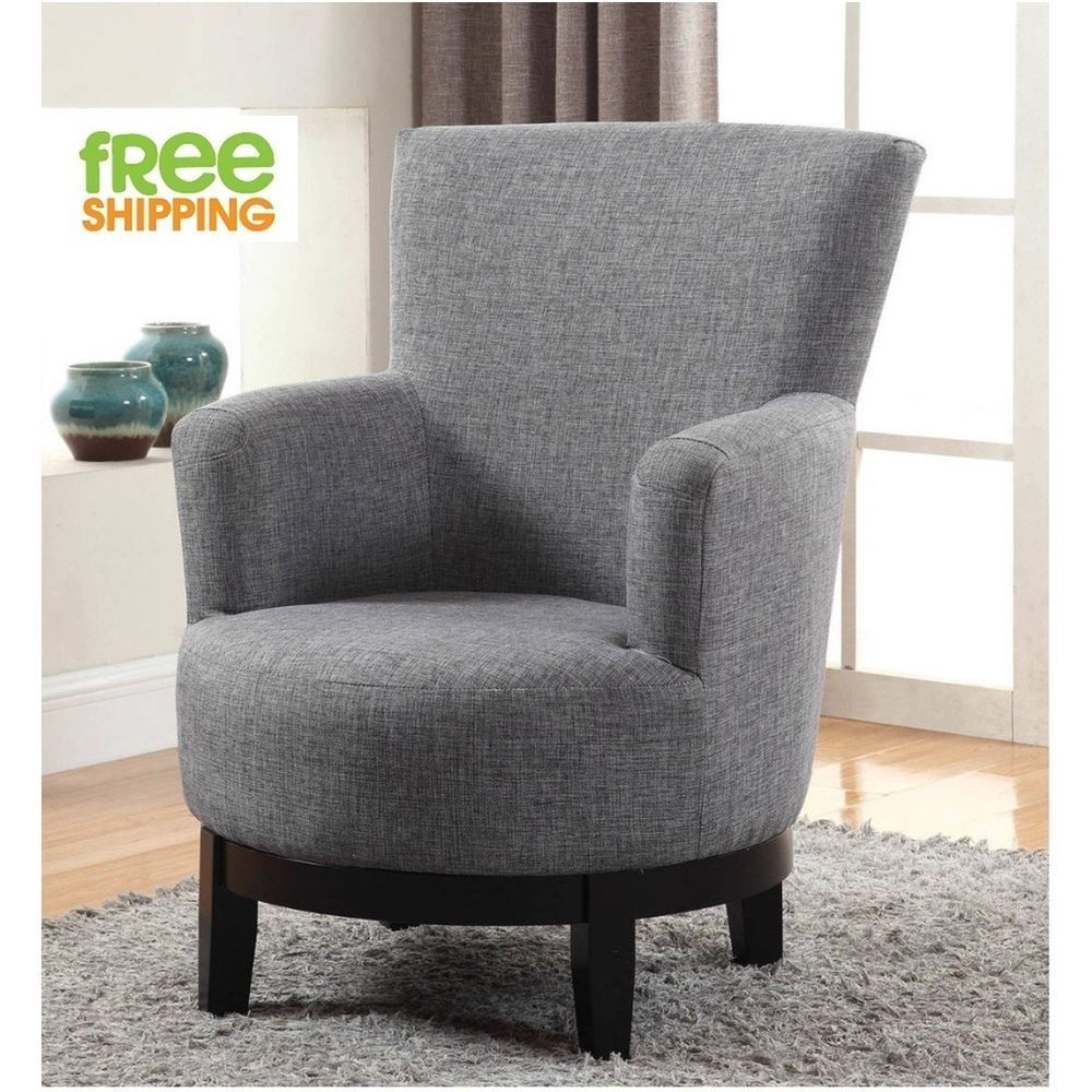 Swivel Accent Chair Upholstered Comfortable Elegant Armchair Solid Inside Aidan Ii Swivel Accent Chairs (View 4 of 25)