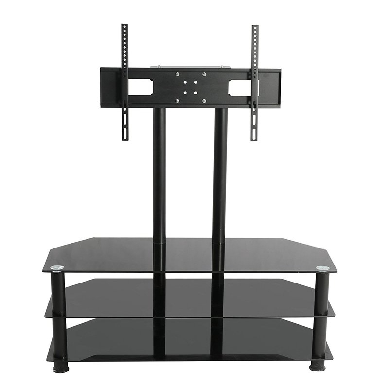 "Symple Stuff Cantilever Glass Tv Stand For Tvs Up To 60"" (Image 22 of 25)"
