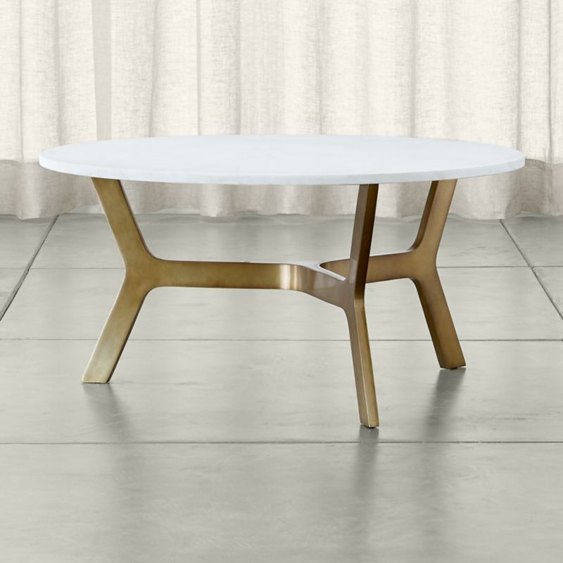 Table, Coffee And Round Coffee Table Regarding Best And Newest Parsons Clear Glass Top & Dark Steel Base 48X16 Console Tables (Image 24 of 25)