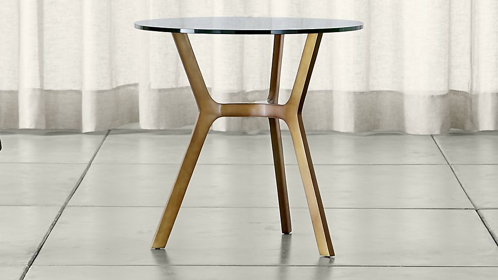 Table, Glass Side In Best And Newest Elke Glass Console Tables With Polished Aluminum Base (View 2 of 25)