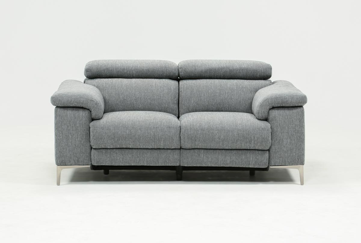 Talin Power Reclining Loveseat W/usb   Living Spaces For Moana Taupe Leather Power Reclining Sofa Chairs With Usb (Image 25 of 25)
