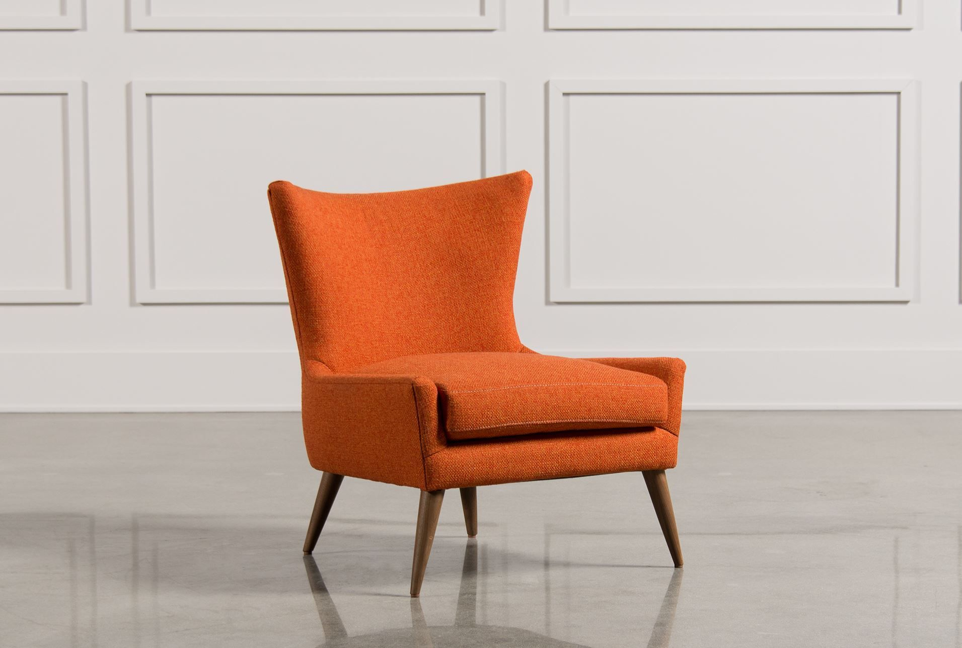 Tate Accent Chair | Living Spaces, Living Rooms And Orange Accent Chair Inside Tate Arm Sofa Chairs (View 20 of 25)