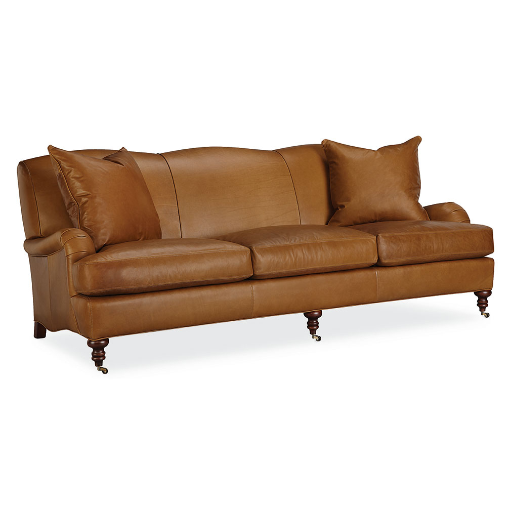 Tate Leather Sofa – Luxe Home Company Regarding Tate Arm Sofa Chairs (View 16 of 25)