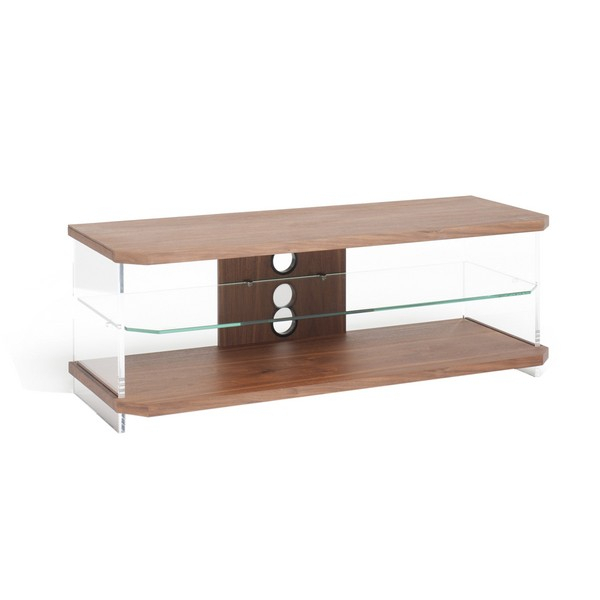 Techlink Air Ai110W Walnut And Glass Tv Unit Walnut – Tv Stands – Tv In Favorite Techlink Air Tv Stands (View 2 of 25)