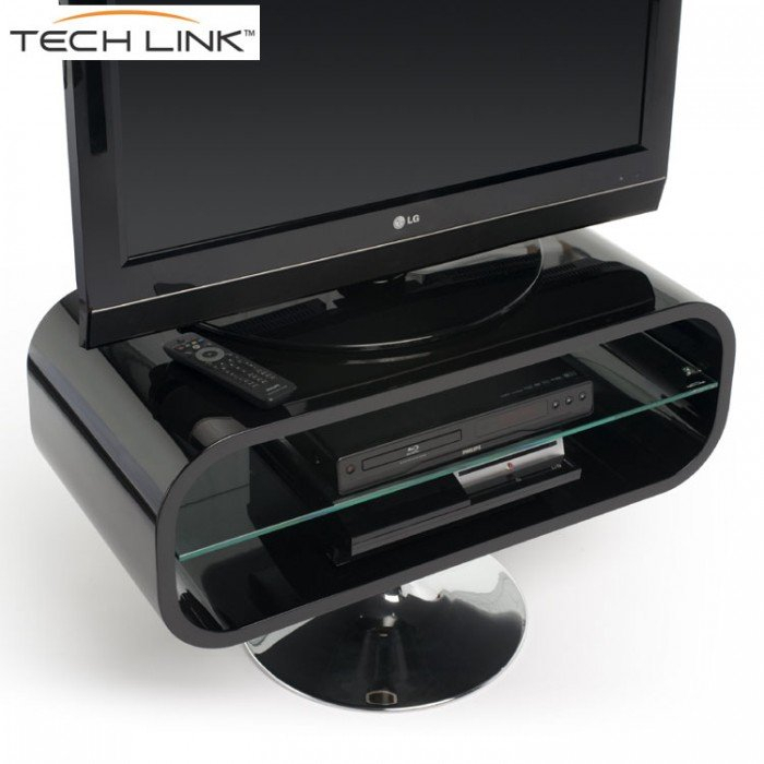 Techlink Op80B Opod Gloss Black Tv Stand (406052) In Most Current Opod Tv Stand Black (View 8 of 25)