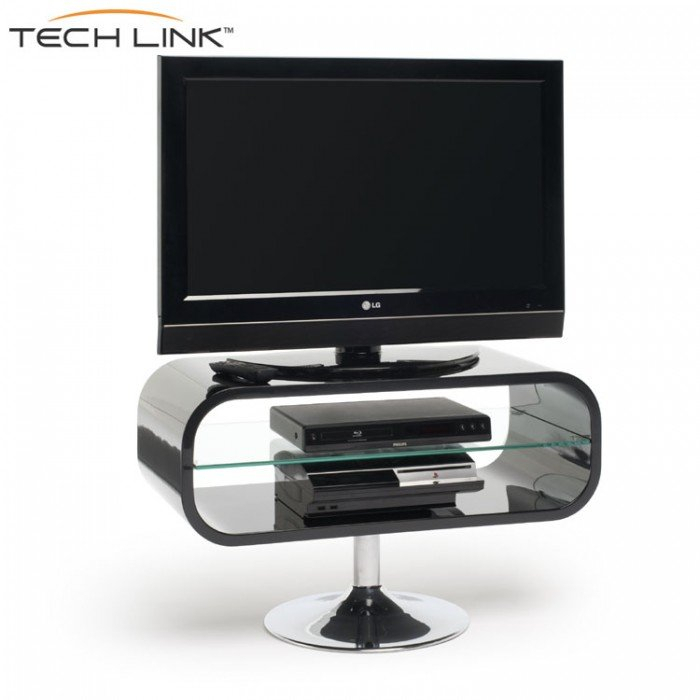 Techlink Op80B Opod Gloss Black Tv Stand (406052) Intended For 2018 Opod Tv Stand Black (View 4 of 25)