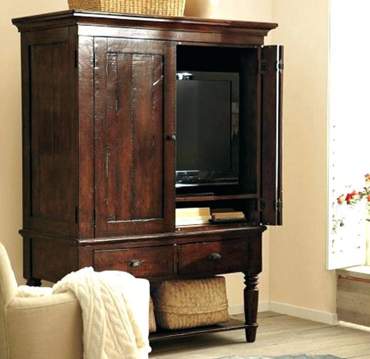 Television Armoire Pocket Doors Armoires Television Armoire Pocket Throughout Best And Newest Wood Tv Armoire (Image 18 of 25)