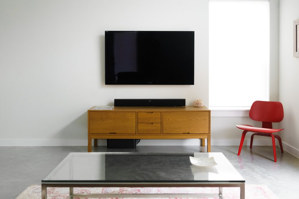 The 10 Best Tv Wall Mounts – The Architect's Guide Throughout 2017 Black Corner Tv Stands For Tvs Up To (View 14 of 25)