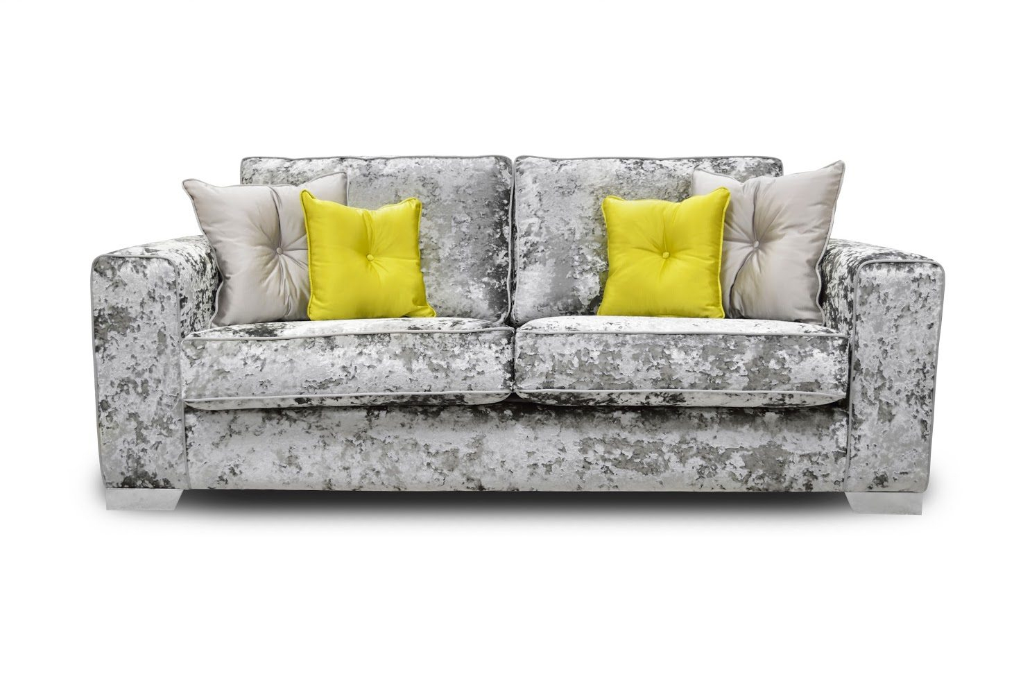 The Lucy Crush Velvet 3 Seater – L'amore Furnishings Pertaining To Lucy Grey Sofa Chairs (View 15 of 25)