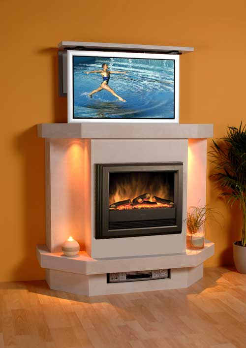 The Original Tv Fireplace » Hide My Tv – Innovative Solutions To With Regard To Well Liked Vista 60 Inch Tv Stands (View 17 of 25)