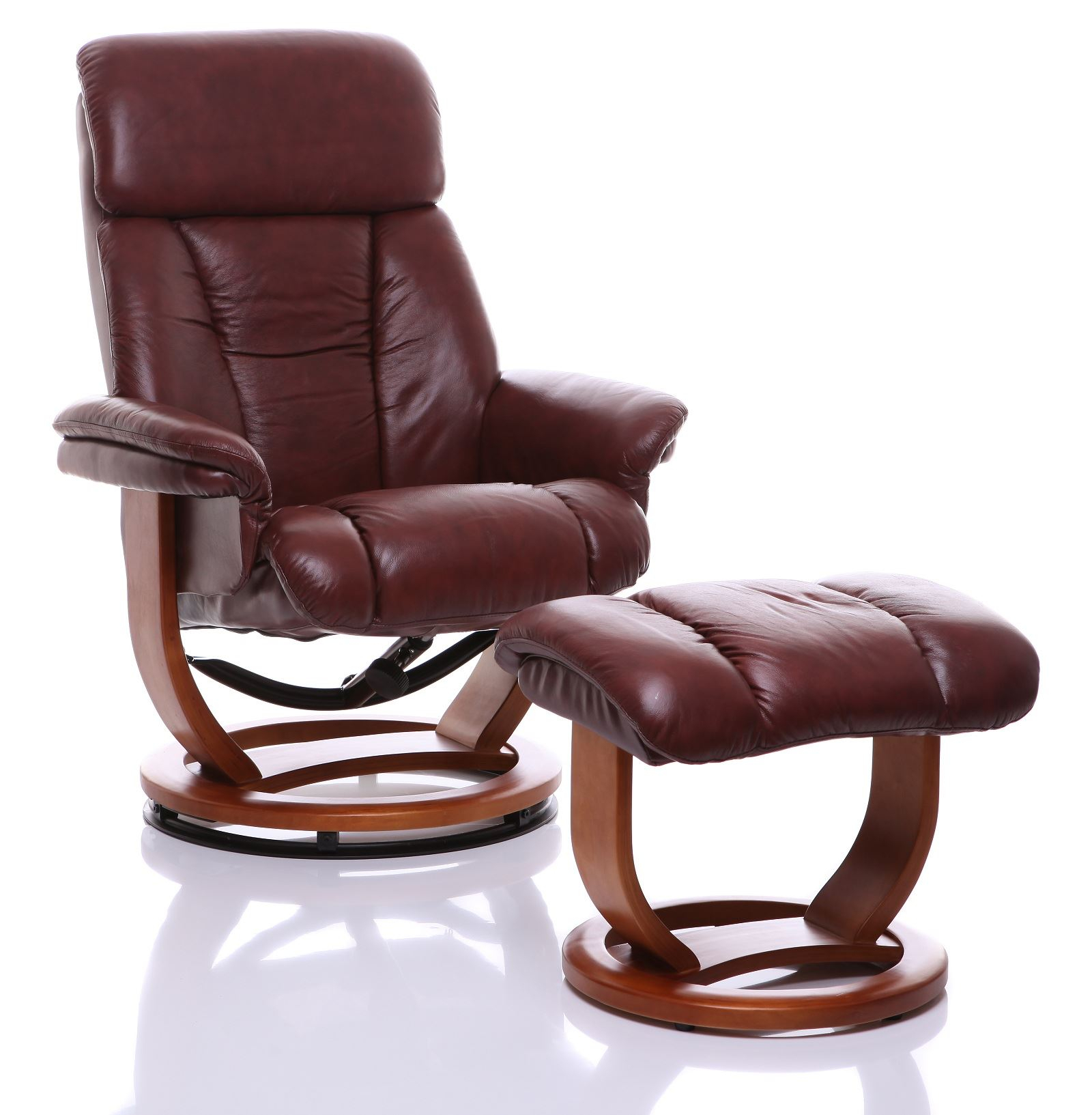 The Saigon Genuine Leather Recliner Swivel Chair Footstool Reclining With Amala Bone Leather Reclining Swivel Chairs (View 13 of 25)