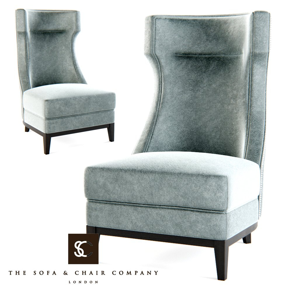The Sofa Chair Company – Parker Armchair 3D Model In Chair 3Dexport With Regard To Parker Sofa Chairs (Image 25 of 25)