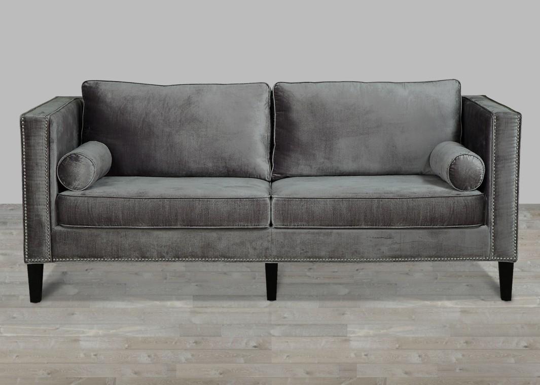 The Terrific Free Velvet Sofa Chair Ideas – Everfaster For Mansfield Graphite Velvet Sofa Chairs (Image 23 of 25)