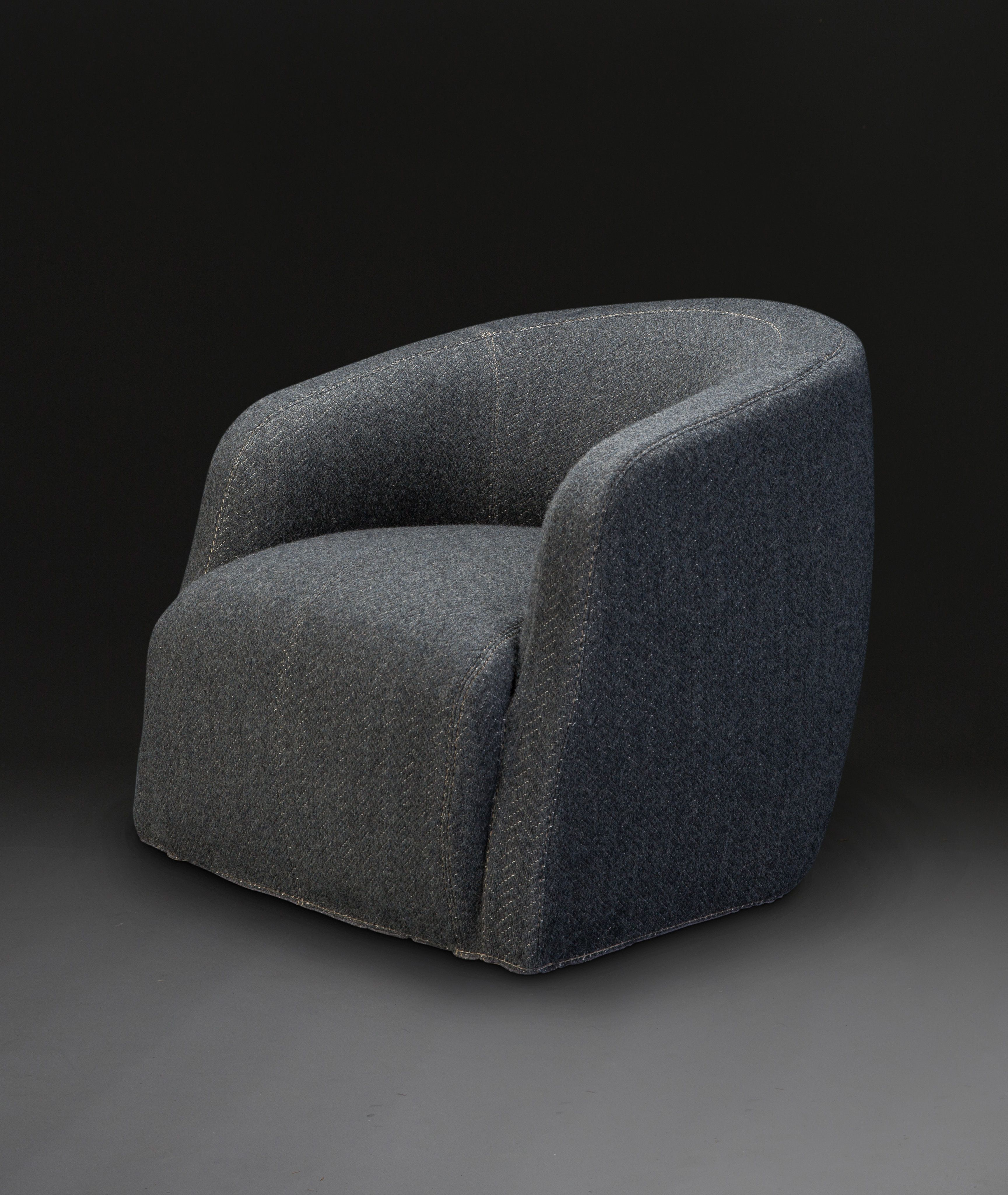 Theo Club Swivel Chair Designedandrew Margolin Pertaining To Theo Ii Swivel Chairs (Image 21 of 25)