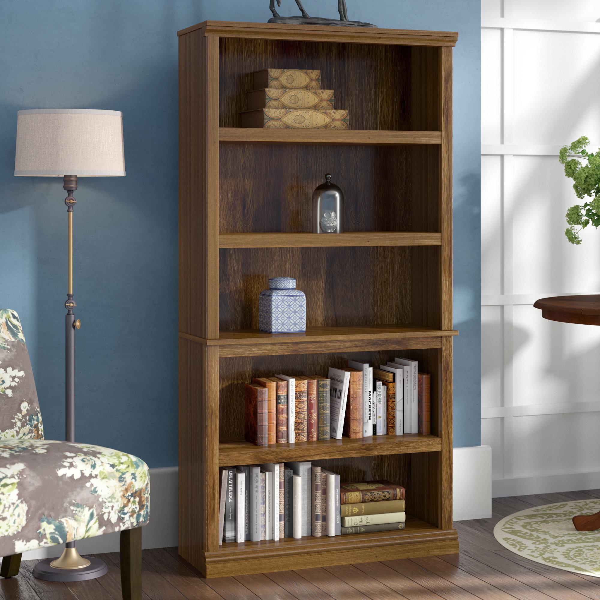 Three Posts Abigail Standard Bookcase & Reviews | Wayfair Regarding Abigail Ii Sofa Chairs (View 17 of 25)