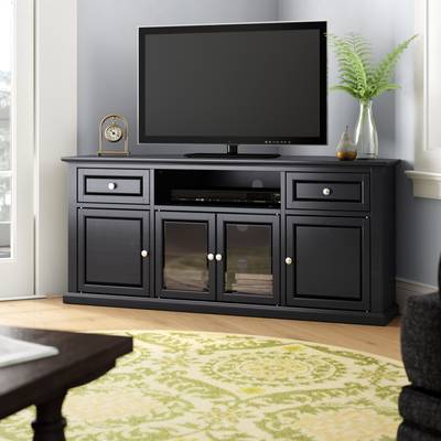 "Three Posts Orviston Corner Tv Stand For Tvs Up To 60"" & Reviews For Preferred Maddy 50 Inch Tv Stands (Image 19 of 25)"